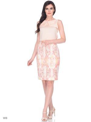 Блузка DEVORE. Цвет: бледно-розовый, персиковый, розовый
