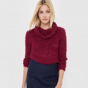 Пуловер с высоким воротником MOLLY BRACKEN. Цвет: бордовый