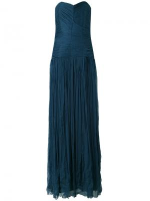 Платье плиссе Mes Demoiselles. Цвет: синий