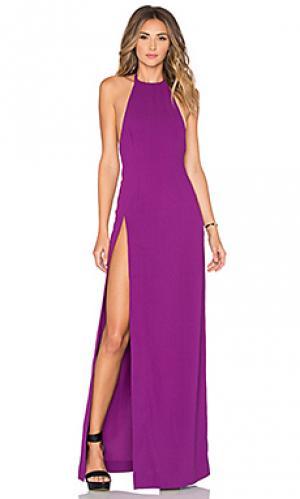 Макси платье loreta SOLACE London. Цвет: фиолетовый