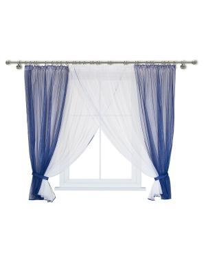 Комплект штор для кухни Wisan. Цвет: синий