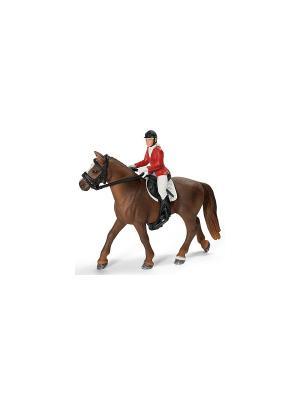 Набор для конкура с наездницей (без лошади) SCHLEICH. Цвет: коричневый