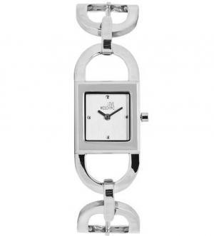 Серебристые часы квадратной формы Moschino