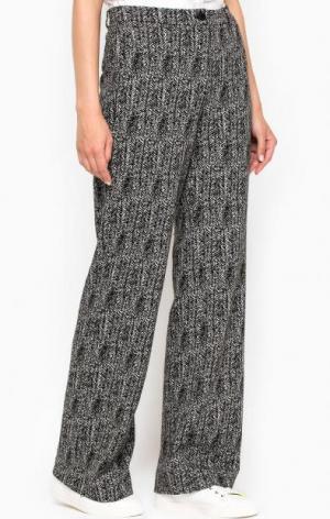 Расклешенные брюки из полиэстера MORE &. Цвет: серый