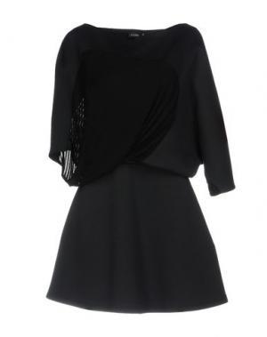 Короткое платье ATLEIN. Цвет: темно-синий
