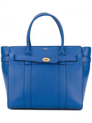Объемная сумка-тоут Bayswater Mulberry. Цвет: синий