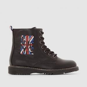 Ботинки на шнуровке и молнии R édition. Цвет: черный