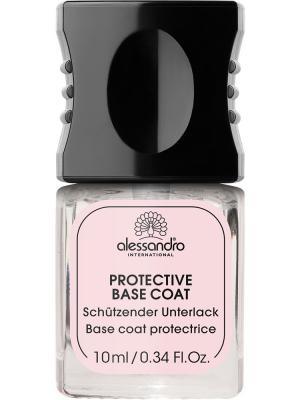 Защитная основа маникюра Protective base coat alessandro. Цвет: молочный