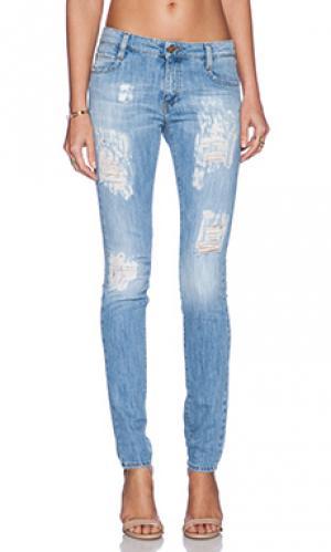 Узкие джинсы с потертостями blake skinny Acquaverde. Цвет: none
