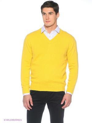 Пуловер Fine Joyce. Цвет: желтый