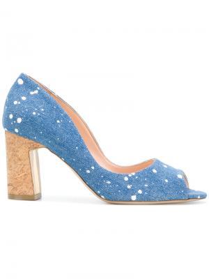 Джинсовые туфли с открытым носком Rupert Sanderson. Цвет: синий