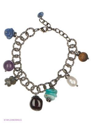 Браслет Polina Selezneva. Цвет: коричневый, голубой, серебристый, фиолетовый, синий, серый, бордовый