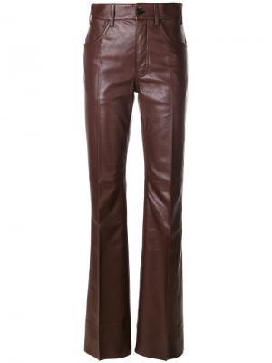 Расклешенные брюки Prada. Цвет: красный