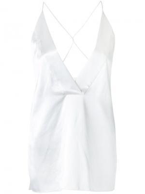 Блузка с открытыми плечами Dion Lee. Цвет: белый