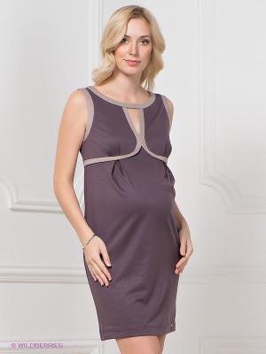 Платье MARY MEA. Цвет: фиолетовый, бежевый