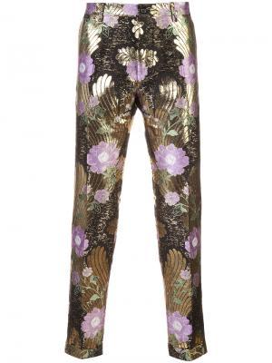 Floral brocade trousers Dolce & Gabbana. Цвет: розовый и фиолетовый