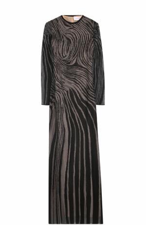Приталенное платье-макси с длинным рукавом Zuhair Murad. Цвет: черный