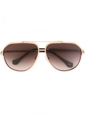 Солнцезащитные очки Balenciaga Eyewear. Цвет: розовый и фиолетовый