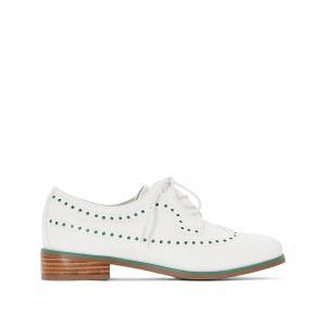 Ботинки-дерби из перфорированного материала R essentiel. Цвет: белый + зеленый,белый/ красный