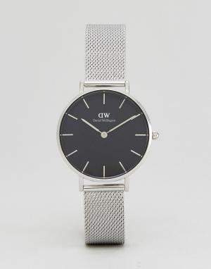 Daniel Wellington Серебристые часы с сетчатым ремешком DW00100162. Цвет: серебряный