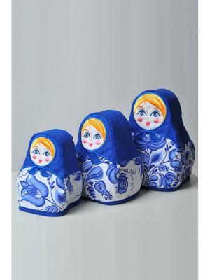 Грелка Матрешка LINO RUSSO. Цвет: синий, белый