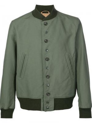 Куртка-бомбер на пуговицах Engineered Garments. Цвет: зелёный