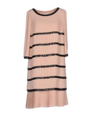 Короткое платье EDWARD ACHOUR. Цвет: телесный