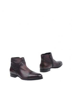 Полусапоги и высокие ботинки BARRETT. Цвет: баклажанный
