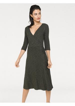 Трикотажное платье Rick Cardona. Цвет: хаки