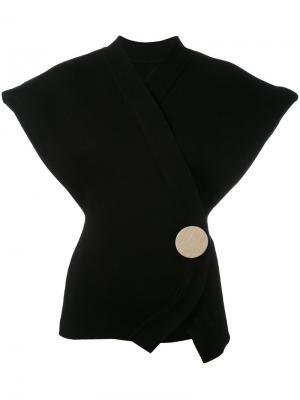 Sleeveless wrap cardigan Jacquemus. Цвет: чёрный