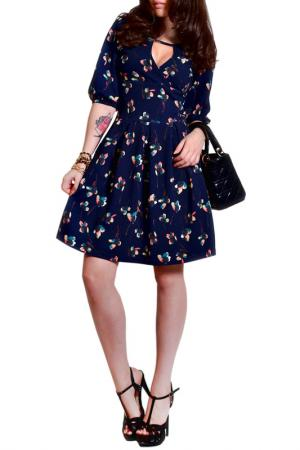 Платье FRANCESCA LUCINI. Цвет: темно-синий