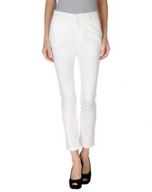 Повседневные брюки GOLD CASE SOGNO. Цвет: белый