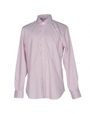 Pубашка BARBA Napoli. Цвет: красно-коричневый