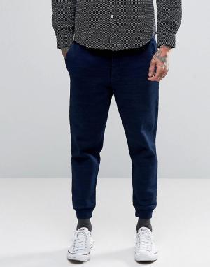 Edwin Плотные спортивные штаны из флиса. Цвет: темно-синий