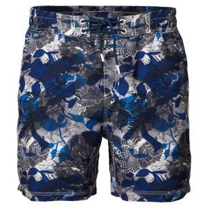 Плавки-шорты с рисунком, Swinshort PETROL INDUSTRIES. Цвет: синий/наб. рисунок