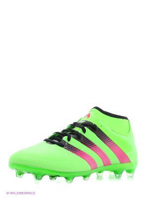 Бутсы Ace 16.2 Primemesh Adidas. Цвет: зеленый
