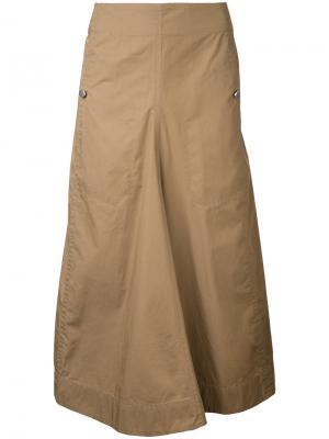 Long flared skirt Lemaire. Цвет: коричневый