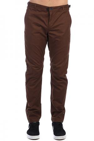 Штаны прямые  Btns Pants Коричневый Skills. Цвет: коричневый