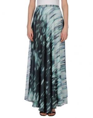 Длинная юбка TROU AUX BICHES. Цвет: светло-зеленый