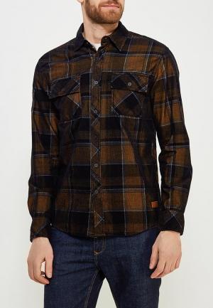 Рубашка Affliction. Цвет: коричневый