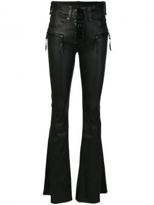 Расклешенные брюки Unravel Project. Цвет: чёрный