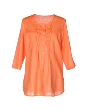 Pубашка JEANS & POLO. Цвет: оранжевый