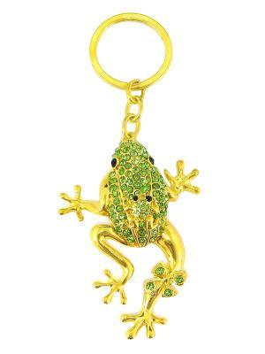 Брелок со стразами Лягушка Aztek. Цвет: зеленый