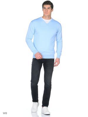 Пуловер Blue Seven. Цвет: светло-голубой, серо-голубой