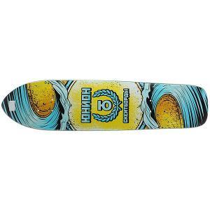 Дека для скейтборда лонгборда  Wave Multi 7.8 x 32 (81.2 см) Юнион. Цвет: мультиколор