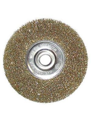 Щетка металлическая для УШМ Ермак. Цвет: золотистый