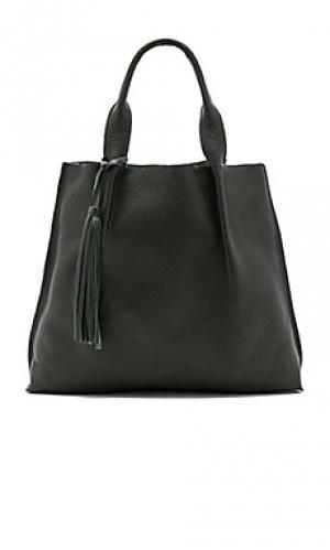 Кожаная сумка-тоут maggie Oliveve. Цвет: темно-зеленый
