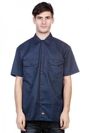 Рубашка  Short Sleeve Workshirt Dark Navy Dickies. Цвет: синий