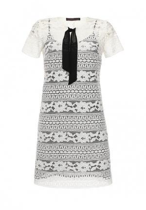 Платье Trussardi Jeans. Цвет: черно-белый