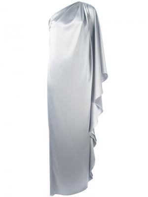 Вечернее платье на одно плечо Gianluca Capannolo. Цвет: серый